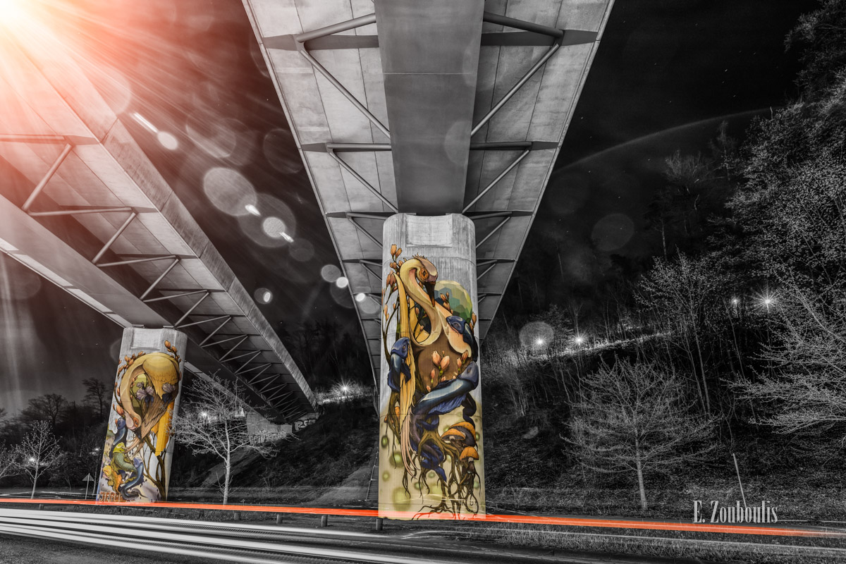 At The Speed Of Light, Bridge, Brücke, Chromakey, Colorkey, Deutschland, Dunkel, EZ00767, Fine Art, FineArt, Gelb, Germany, Heslach, Langzeitbelichtung, Licht, Lichtschweif, Light Trails, Long Exposure, Nacht, Night, Speed, Stuttgart, Stuttgart Süd, Südheim, Traffic, Trails, Tram, Velocity, Yellow, Zouboulis, futuristic, futuristisch, graffiti, jeroo, under the bridge downtown, zouboulis photography