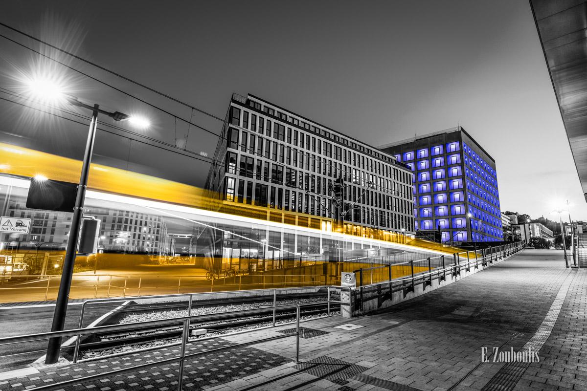 At The Speed Of Light, Bahn, Blau, Blue, Chromakey, Colorkey, Deutschland, Dunkel, EZ00775, Fine Art, FineArt, Gelb, Germany, Langzeitbelichtung, Licht, Lichtschweif, Light Trails, Long Exposure, Nacht, Night, SSB, SSBAG, Speed, Stadtbahn, Strassenbahn, Stuttgart, Traffic, Trails, Tram, Velocity, Yellow, Zouboulis, bibliothek, futuristic, futuristisch, library, mailänder platz, stadtbibliothek, zouboulis photography