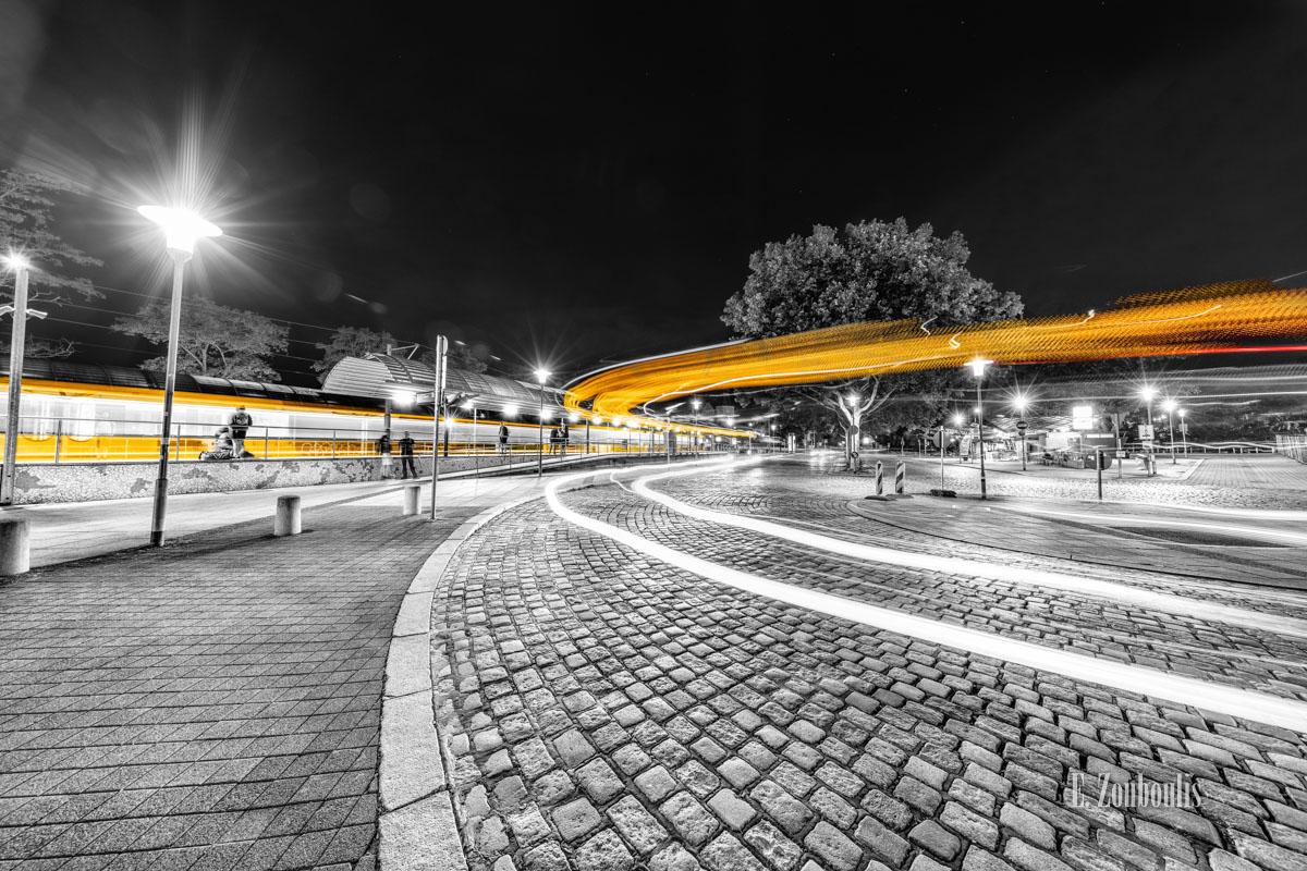 At The Speed Of Light, Bus, Chromakey, Colorkey, Deutschland, Dunkel, EZ00781, Fine Art, FineArt, Gelb, Germany, Langzeitbelichtung, Licht, Lichtschweif, Light Trails, Long Exposure, Nacht, Night, Rot, SSB, SSBAG, Speed, Stuttgart, Traffic, Trails, Train, Tram, Yellow, Zouboulis, bahnhof, feuerbach, red, straßenbahn, zouboulis photography