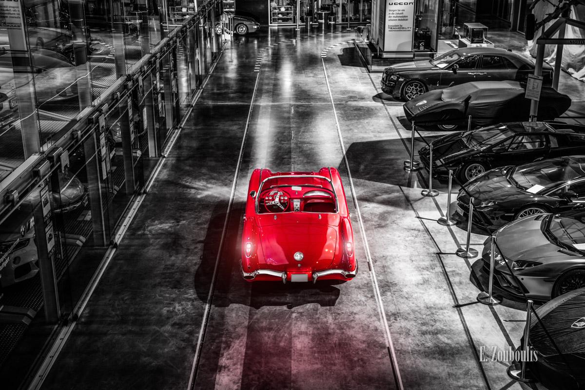 1961, Automotive, Böblingen, Cabrio, Cars, Chromakey, Colorkey, Deutschland, Dunkel, EZ00841, Fine Art, FineArt, Germany, Licht, Motorworld, Nacht, Night, Rot, Zouboulis, c1, cabriolet, chevrolet, convertible, corvette, corvette c1, flugfeld, red, zouboulis photography
