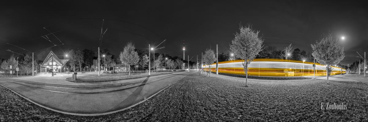 360, At The Speed Of Light, Chromakey, Colorkey, Deutschland, Dunkel, EZ00914, Fernsehturm, Fine Art, FineArt, Gelb, Germany, Langzeitbelichtung, Licht, Lichtschweif, Light Trails, Long Exposure, Nacht, Night, Panorama, Rot, SSB, SSBAG, Speed, Stuttgart, Traffic, Trails, Train, Tram, Yellow, Zouboulis, degerloch, pano, red, straßenbahn, zouboulis photography